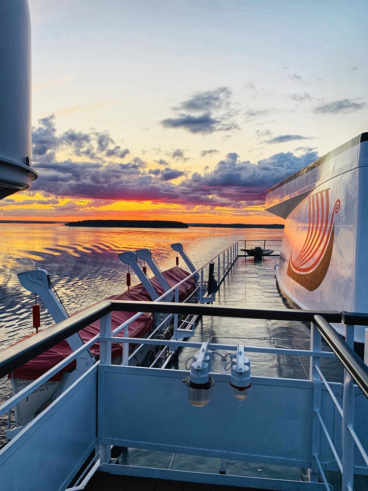 Russia River Cruise Viking sunset