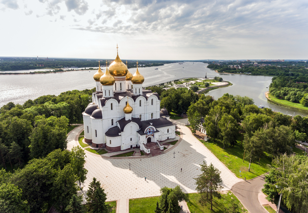 Russian River Cruise Assumption Church Yaroslavl