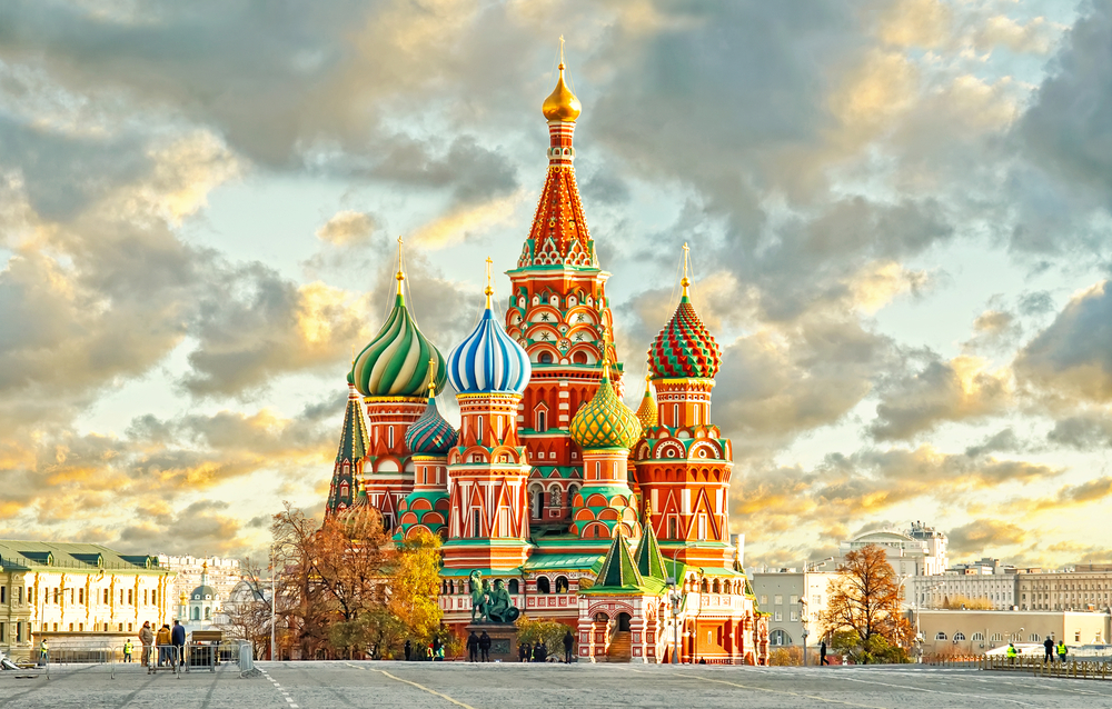 Russia River Cruise St Basil Red Square