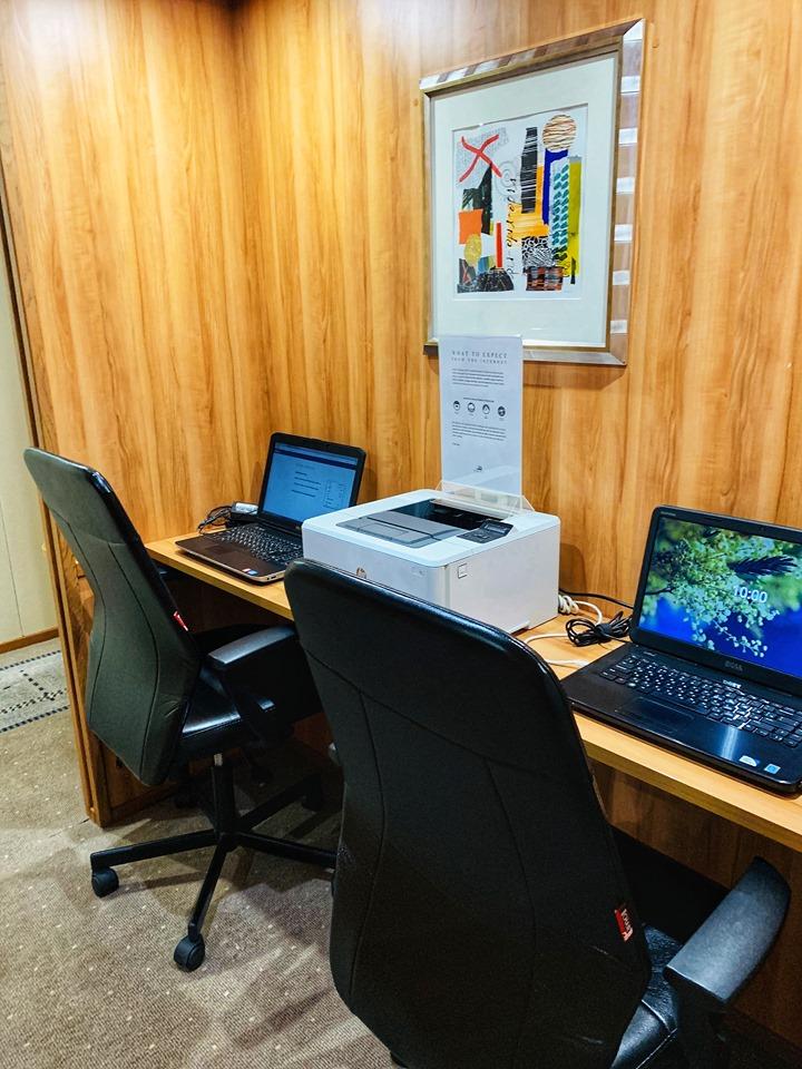 Russia River Cruise computer room