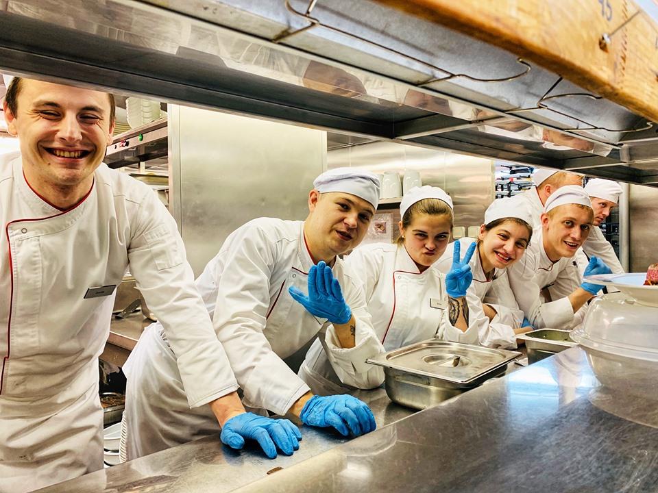 Russian River Cruise kitchen staff