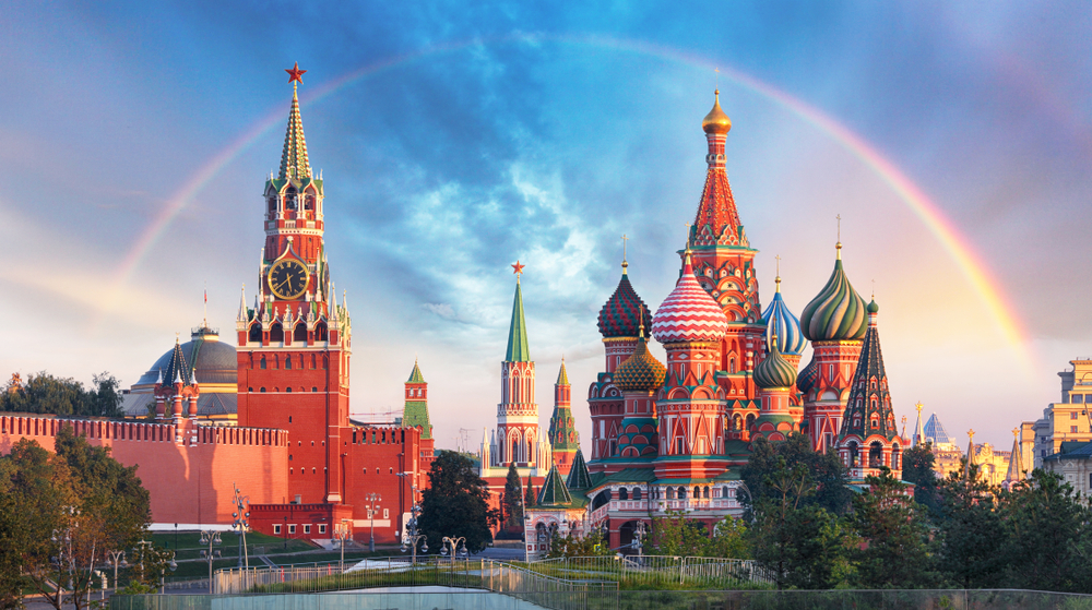 Russian River Cruise Moscow rainbow