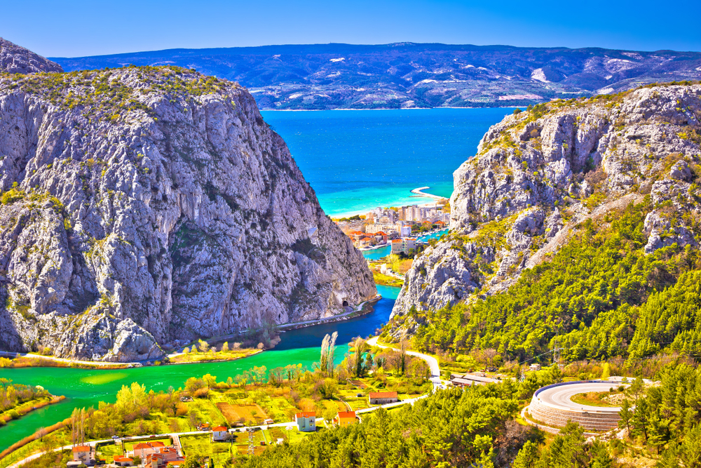 day trips from Split Cetina River flowing into sea