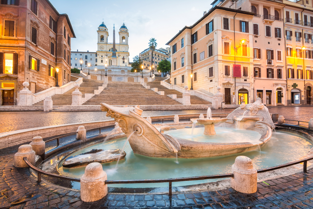 One day in Rome, Spanish steps