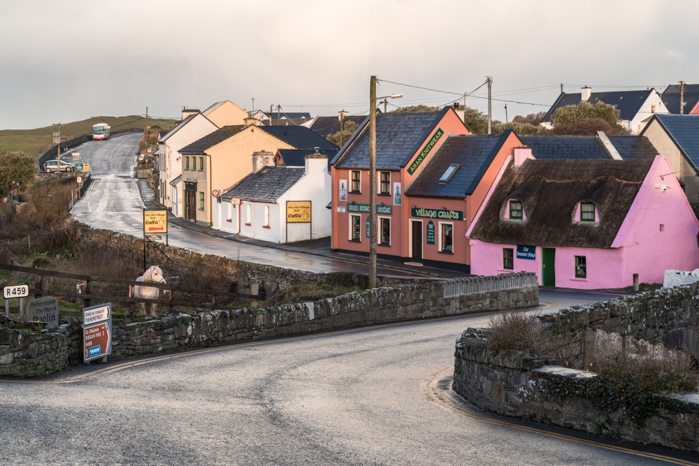 Doolin street with cute shops