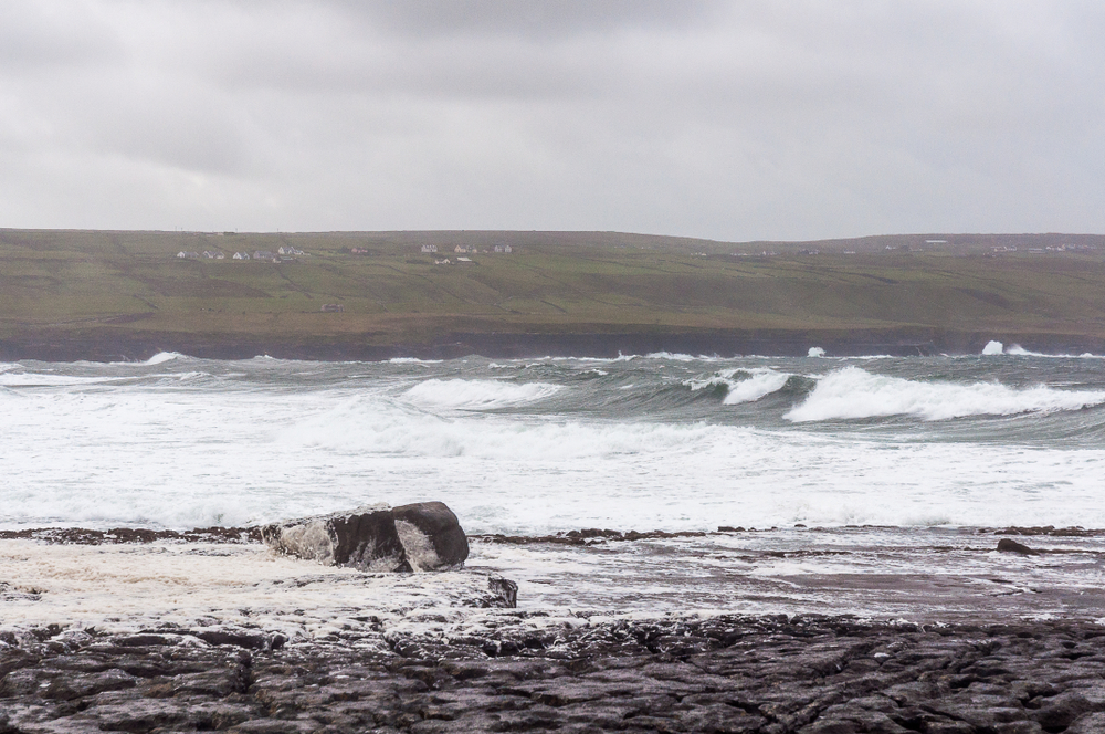 Waves breaking off Doolin pier are perfect for surfing!