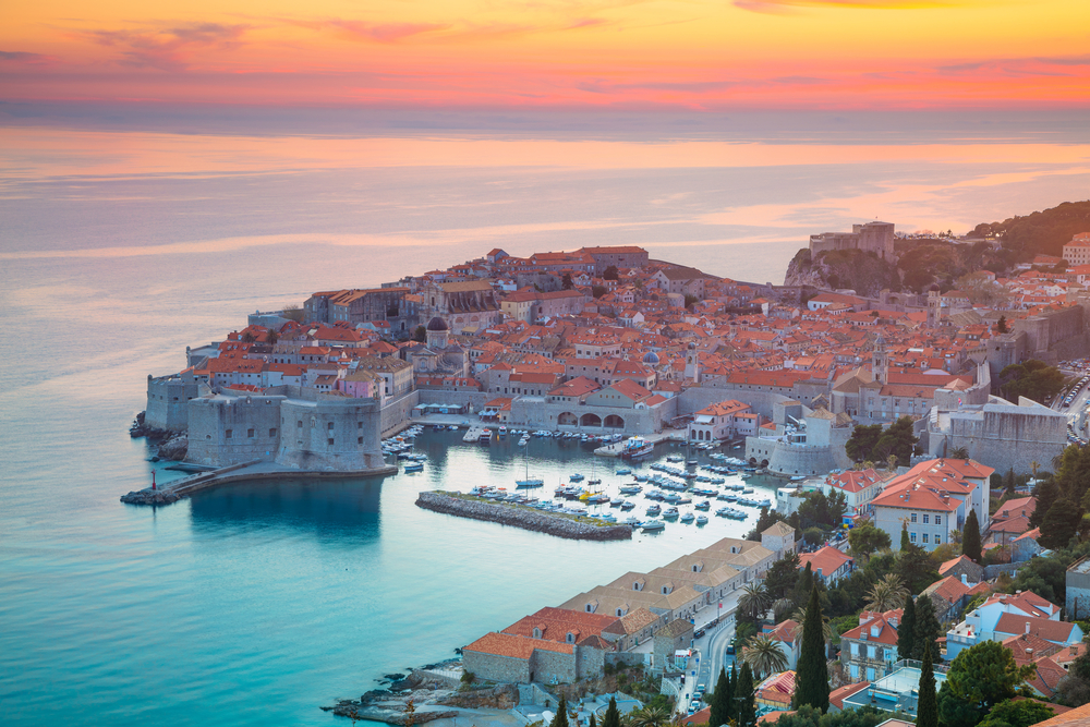 Day trips from Dubrovnik lovely sunset