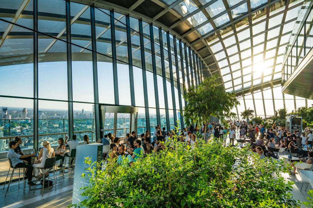 Unusual things to do in London Sky Garden