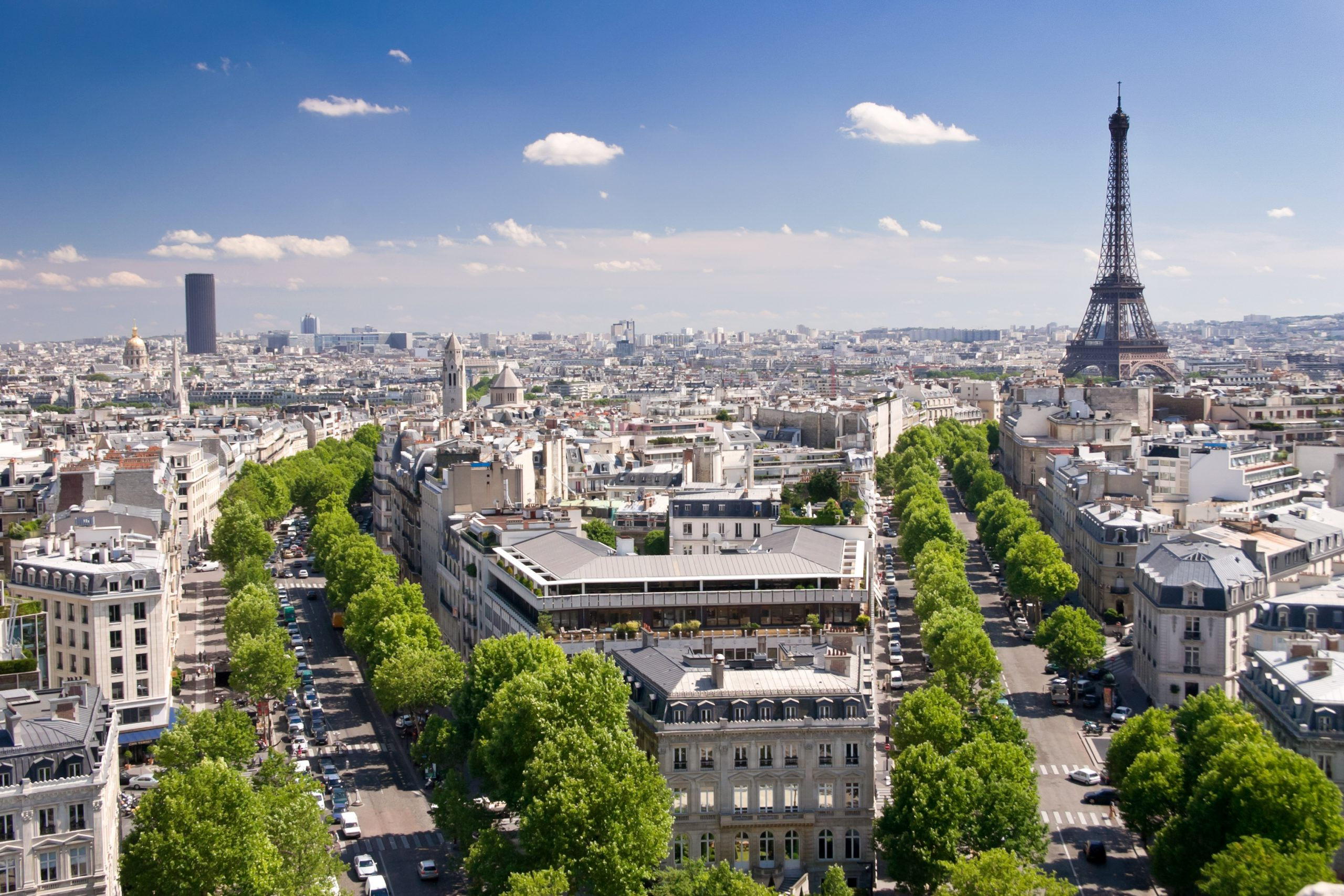 best views in PAris from the Arc de Triomphe