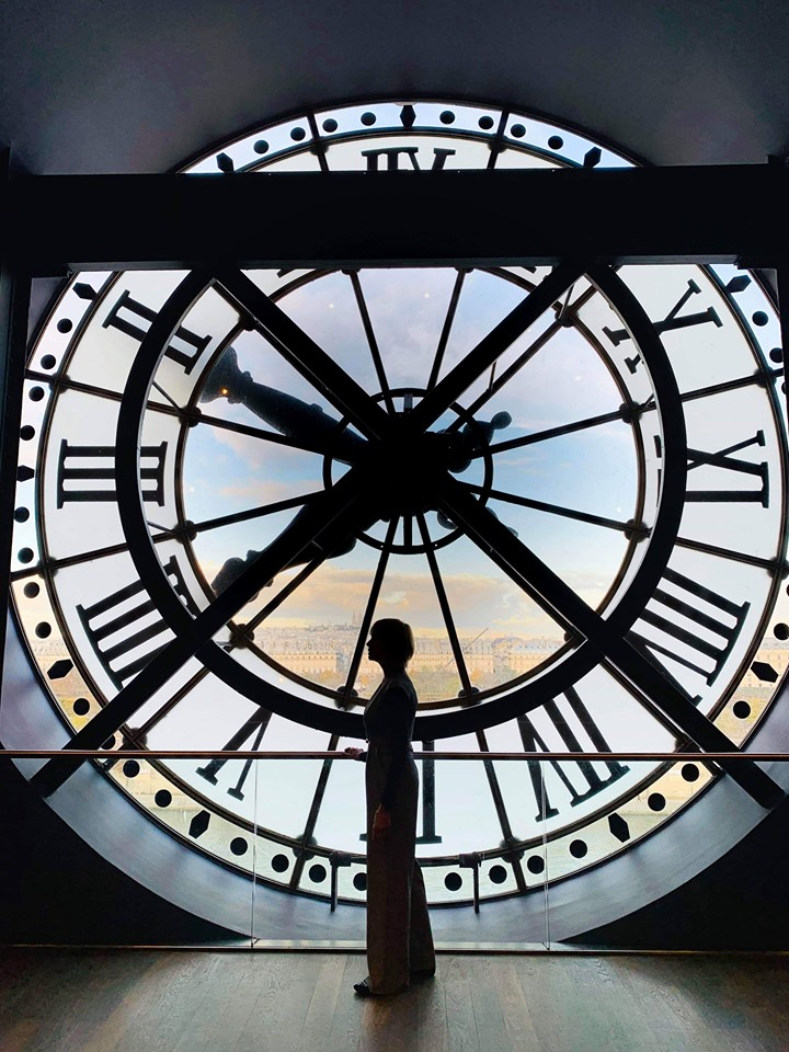 Best views in Paris from glass clock Musee d' Orsay