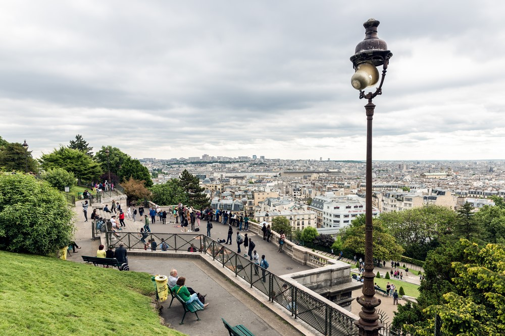 Best views in Paris from the top of Montemartre