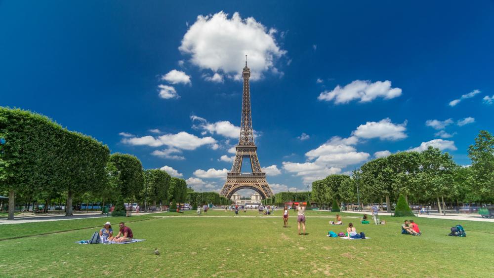 Paris gardens Champs de mars