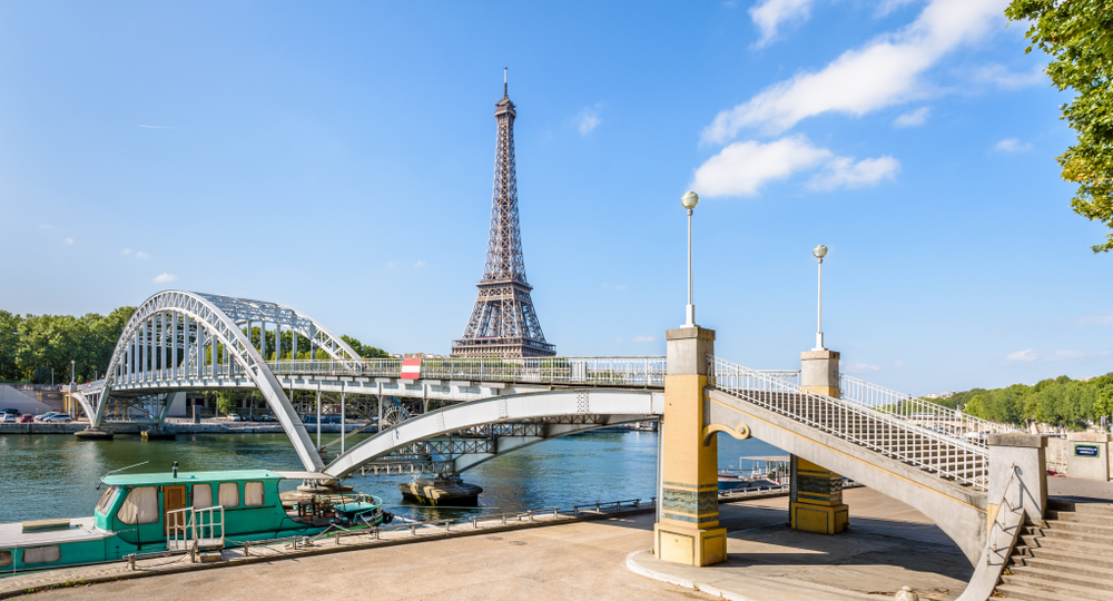 Bridges in Paris Passerelle Debilly