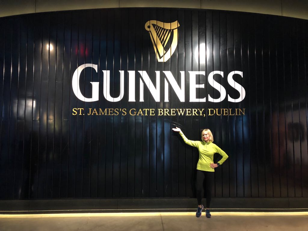 When visiting Dublin stop at the Guinnes Storehouse. Here I am there.