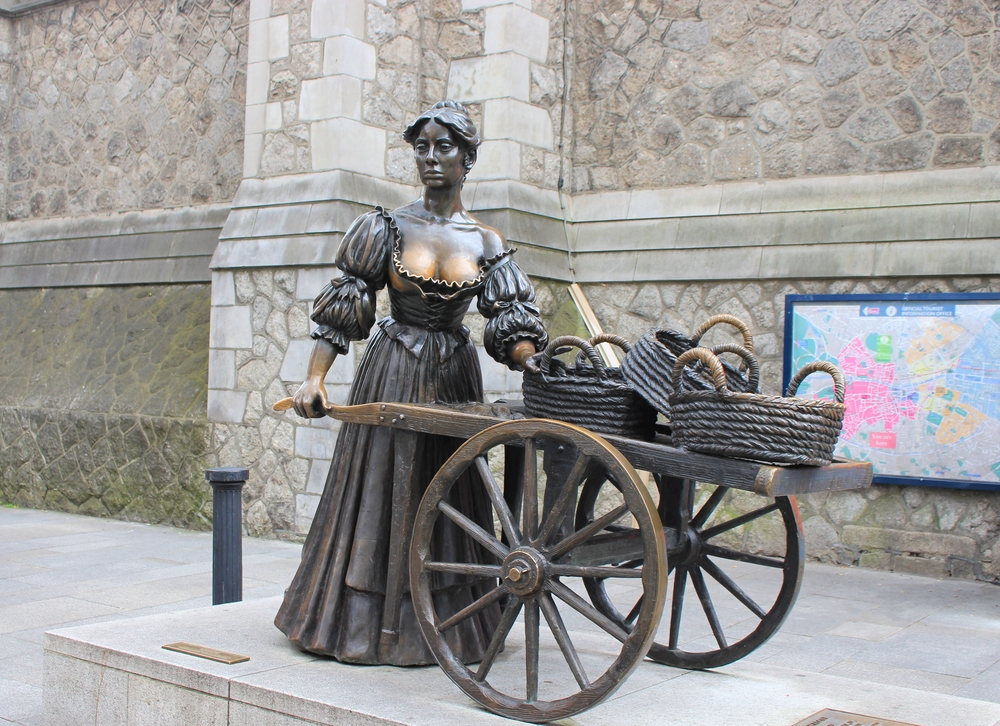 when visiting Dublin check out the Molly Malone statue