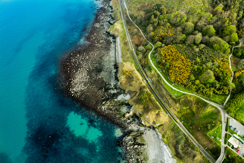 best time to visit Dublin and overhead shot of the Bray Coastal Trail