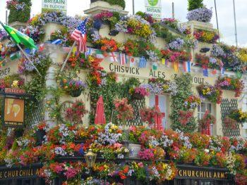 Hidden Gems in London flower adorned Churchill Arms