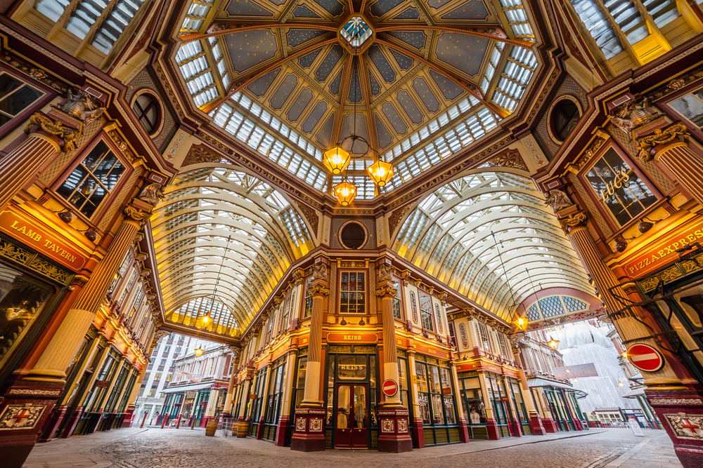 Stunning LeadenHall Market where Harry Potter movies were filmed