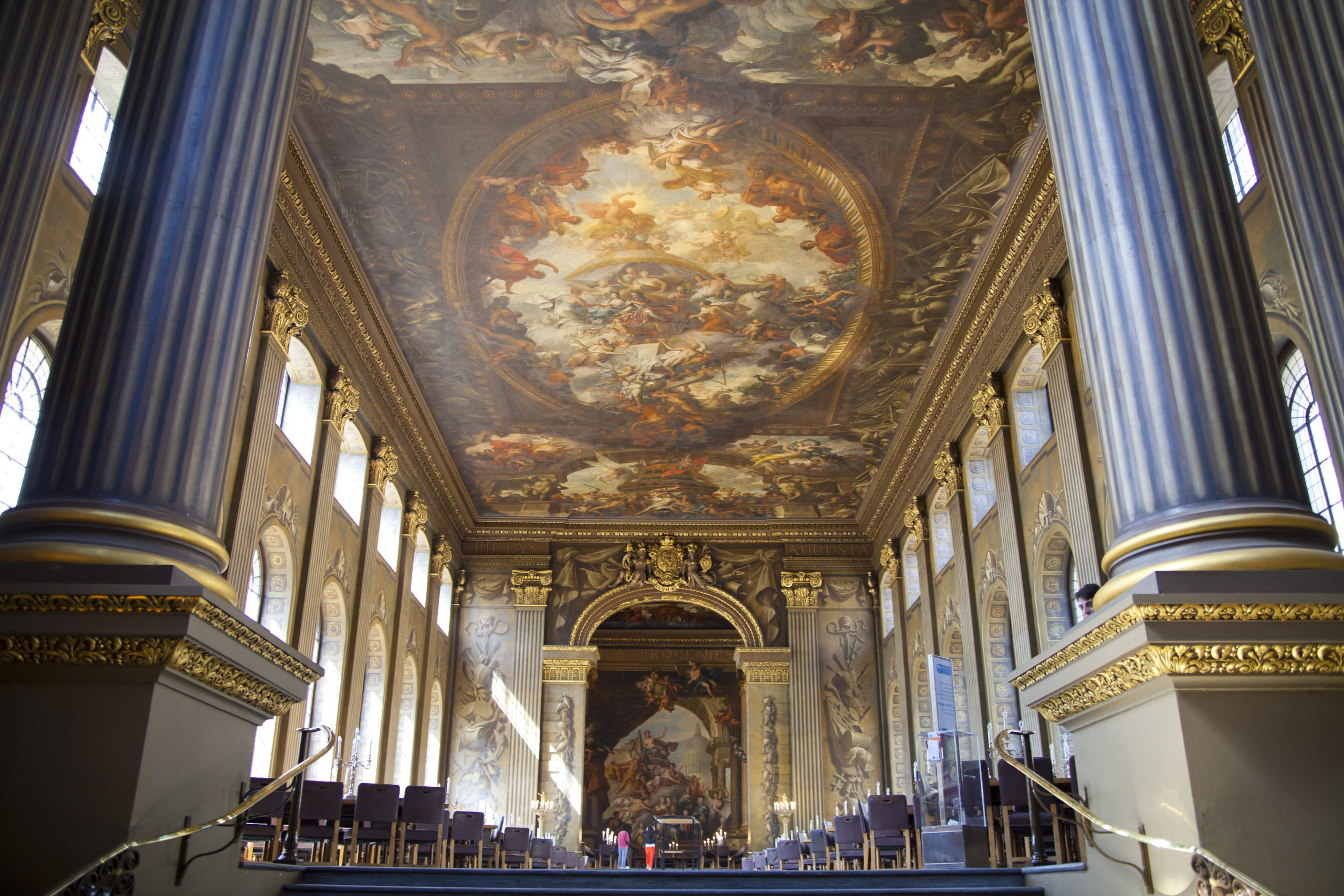 The Painted Hall in London is very opulent