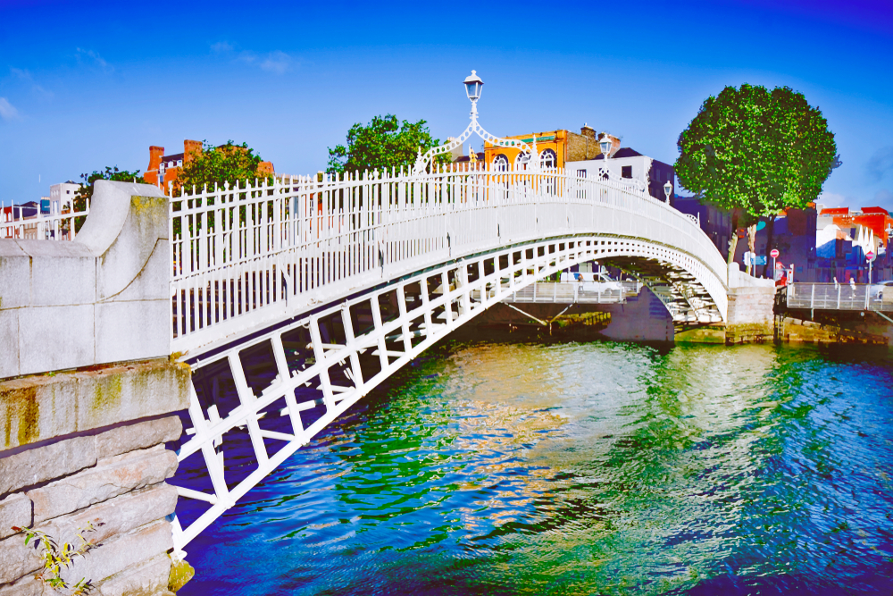 Best time to visit Ireland the beautiful and ornate Ha' Penny Bridge