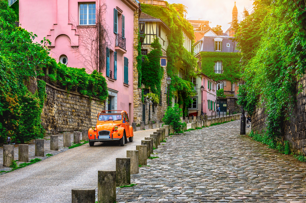 druing your first time in Paris you will see lovely side streets just like this one