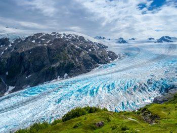 Blue ice of Exit Glacier Alaska