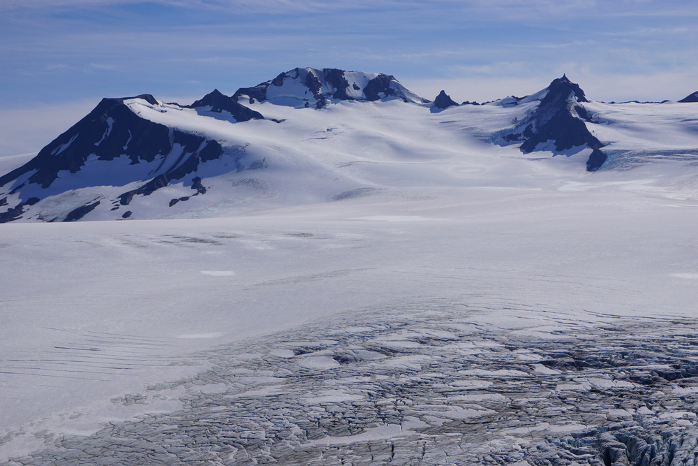 Snowy Exit Glacier