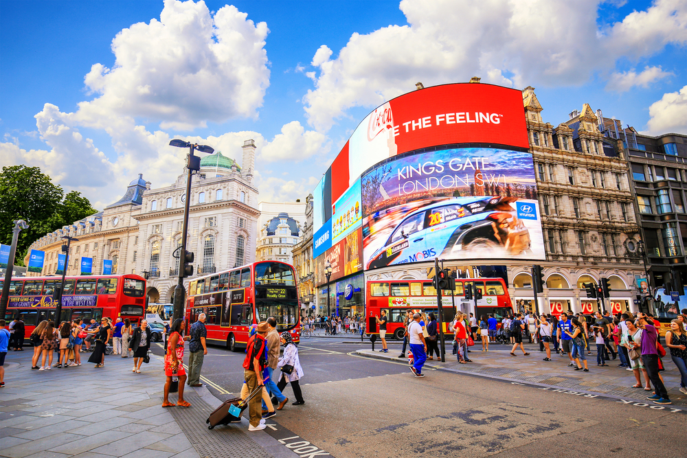 Picadilly Circus 5 days in London