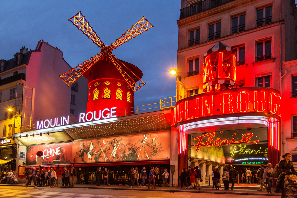 Paris 3 day itinerary may include a stop at the Moulin Rouge