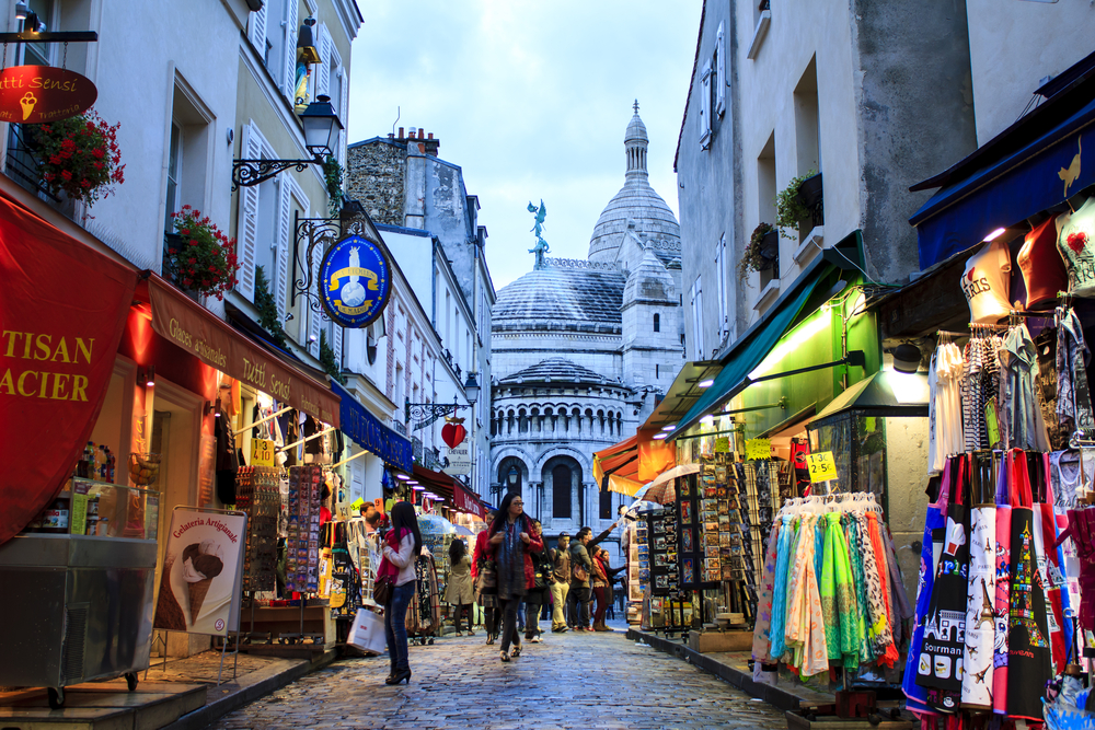 On your Paris 3 day itinerary spend some time souvenir shopping in Montmartre