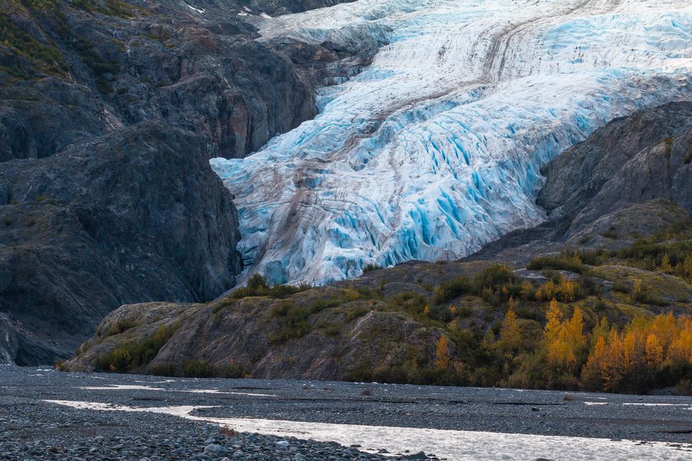 Gravel bed at Exit Glacier