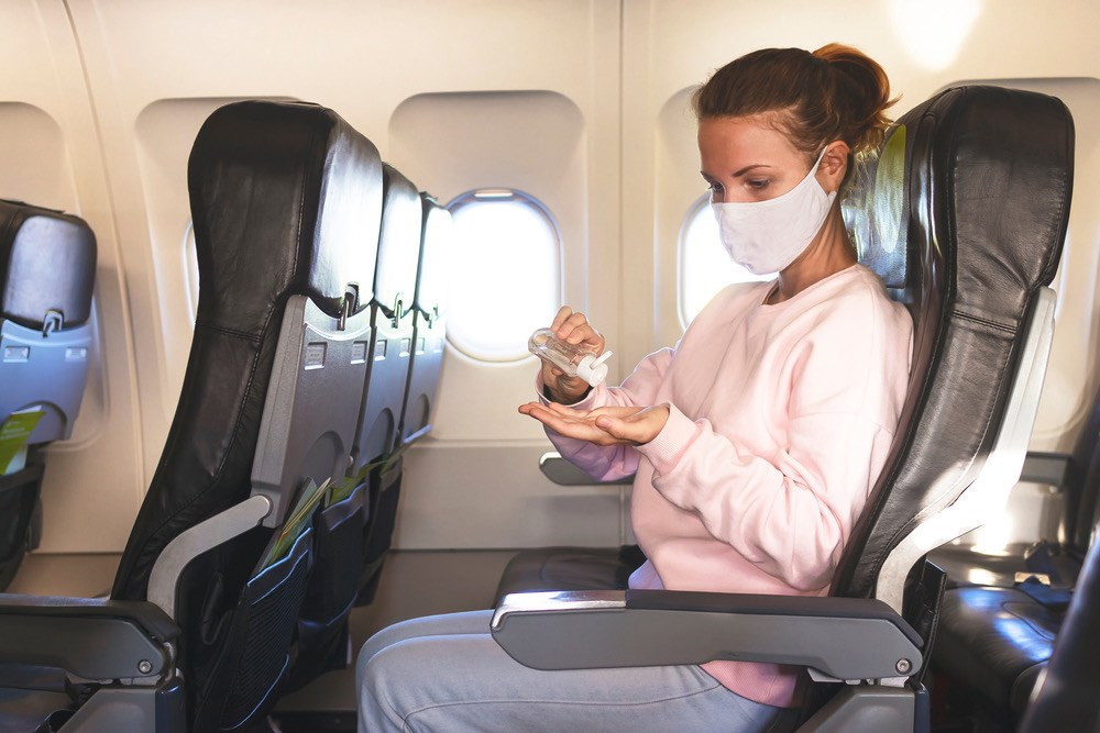 be prudent when trying to avoid getting sick on a plane