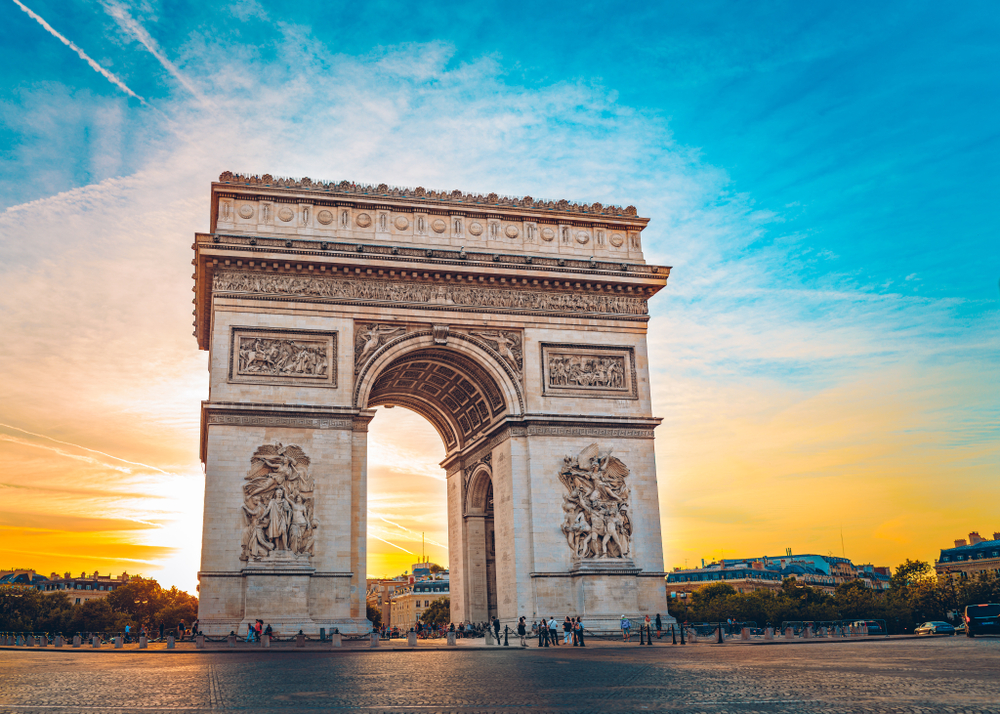 London Paris itinerary can include the Arc de Triomphe