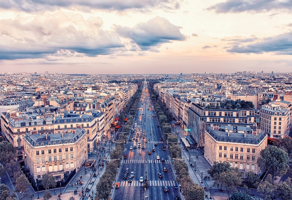 On your London and Paris trip include the Champs Elysees