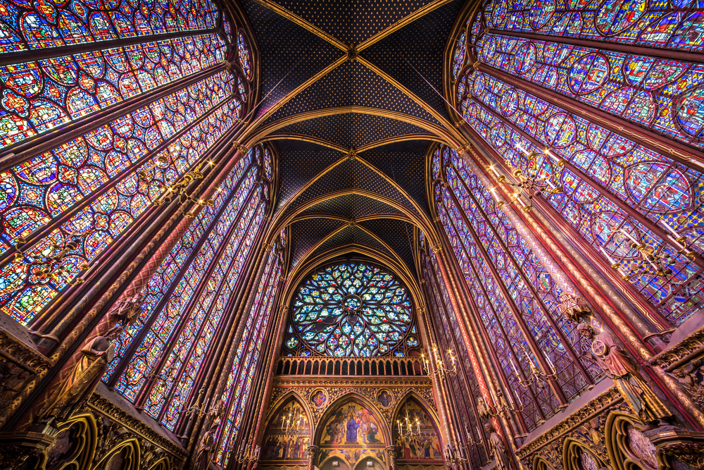 Visit the exquisite Sainte Chapelle during your Paris and London trip
