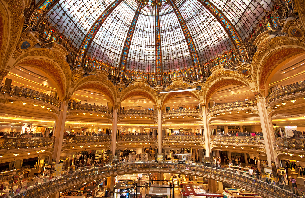 Paris London journey should include the Galeries Lafayette grand foyer