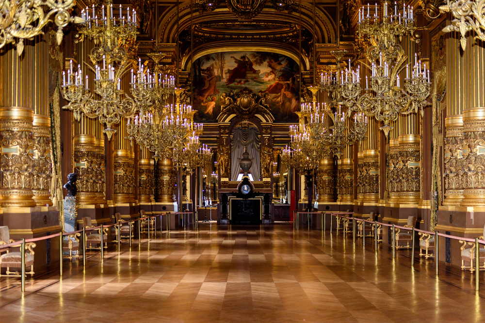 Travel from London to Paris to visit the Paris Opera House