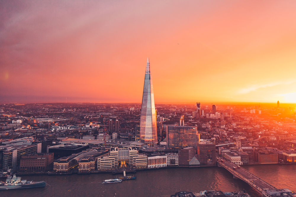 On you Paris London journey see the views from the Shard