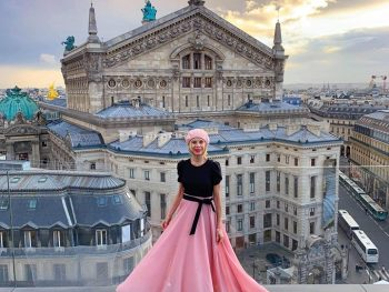 Linda On The Run on rooftop of Galeries Lafayette in Paris London