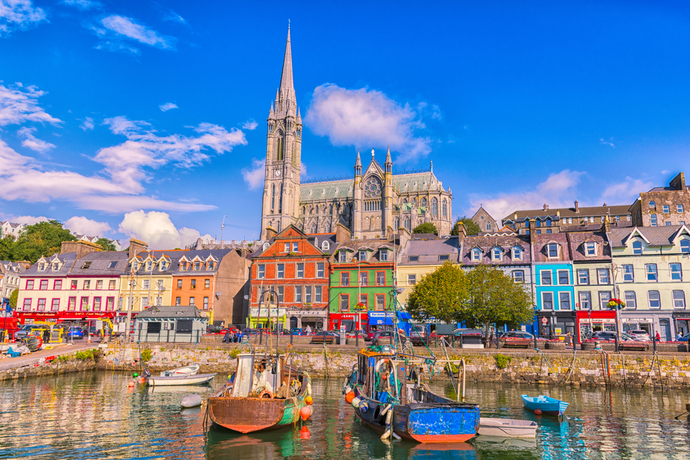 Cities in Ireland, like Cobh, are very safe