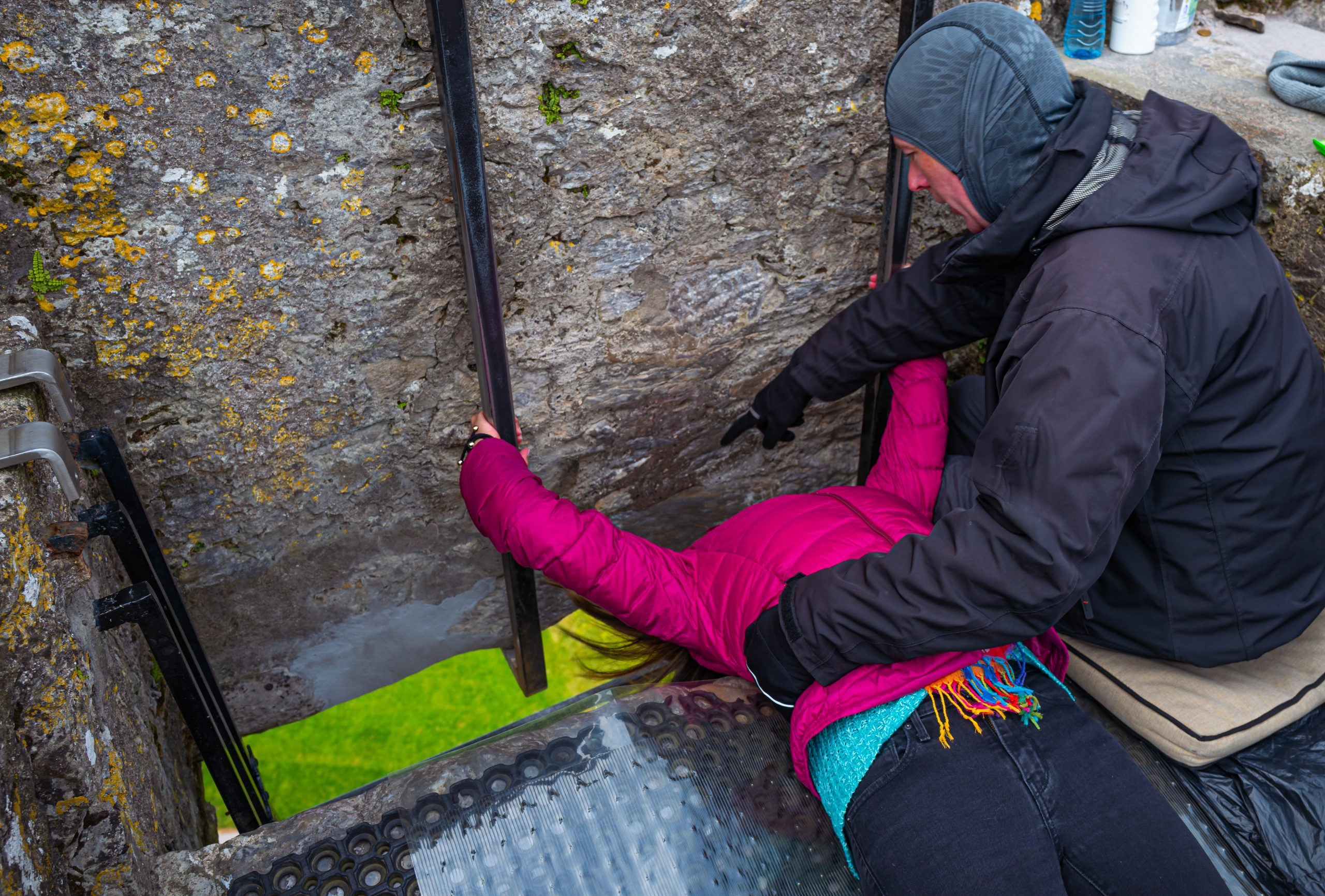 traveling to ireland means kissing the blarney stone!