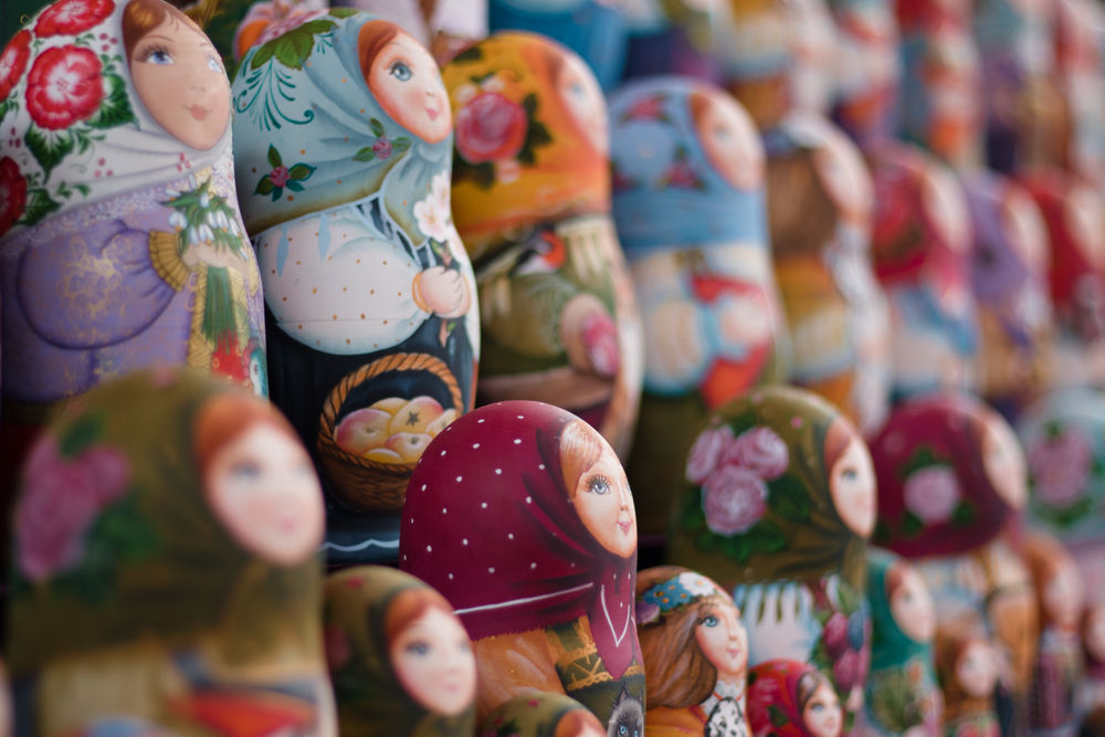 traveling to Russia means bringing back nesting dolls