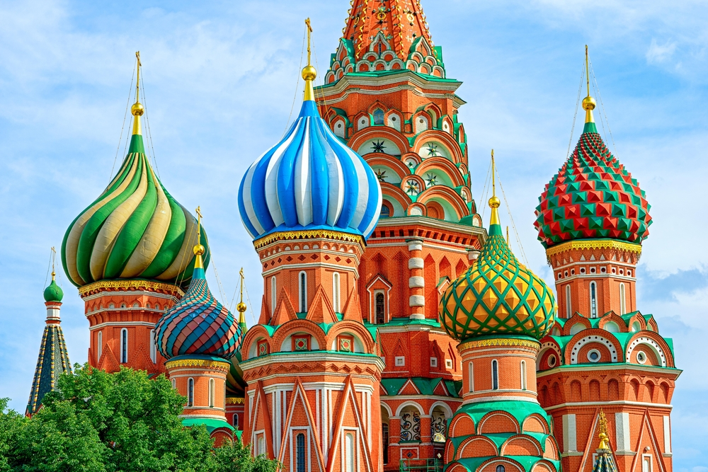 Visiting St Basil Cathedral in Moscow is a highlight when traveling to Russia