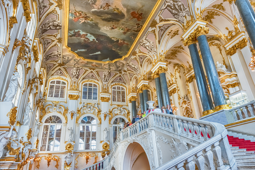 the Hermitage Museum is one not to miss when traveling to Russia