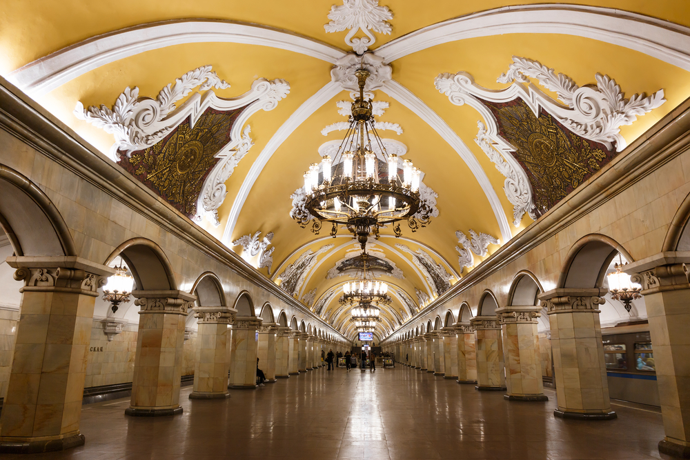when traveling to Russia do not miss the metro stations