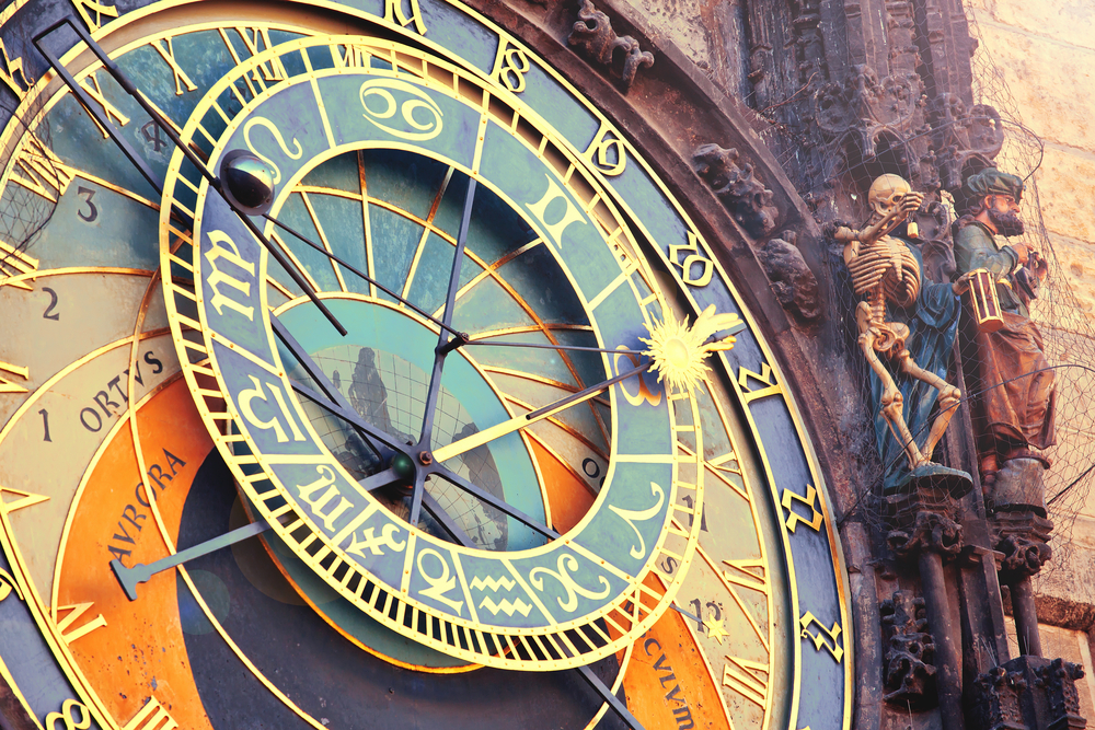 The Prague Astronomical Clock is located in Old Town Prague