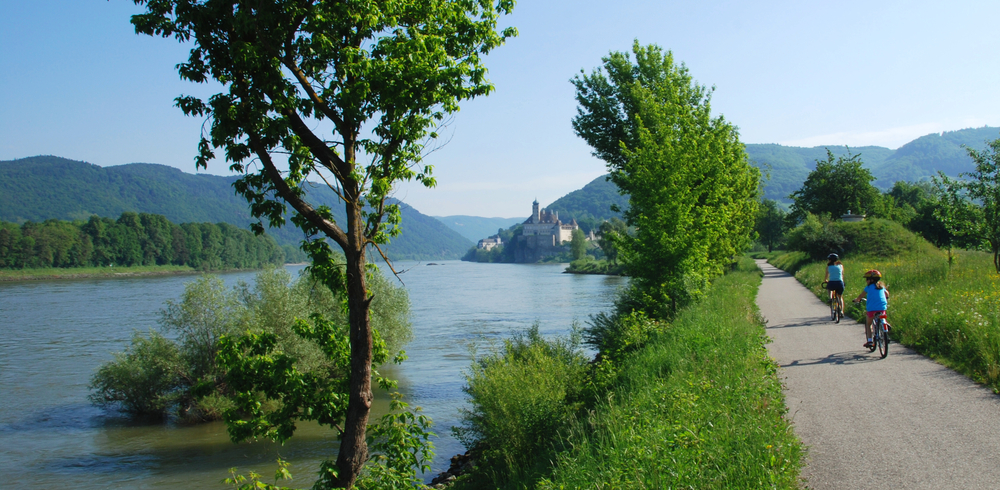 Bike riding along the rivers of Passau Germany is a fun things to do