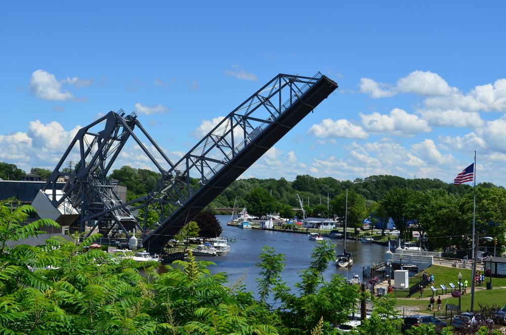 drawbridge in Ashtabula Harbor is part of this city's great history