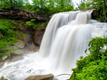 Brandywine Falls in Cuyahoga Valley are beautiful waterfalls in Ohio