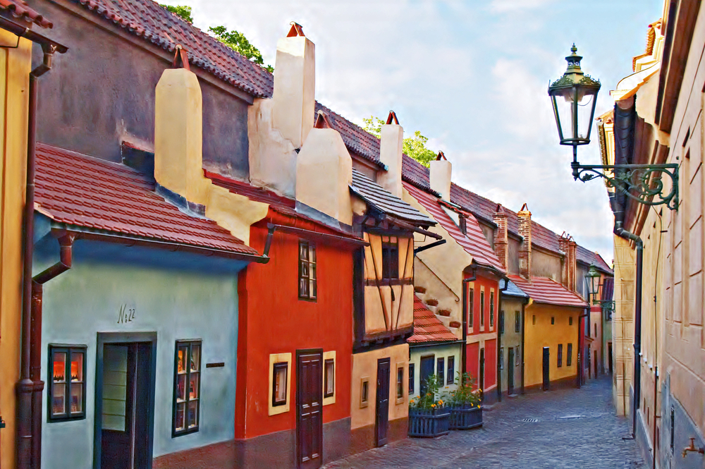 The Golden Lane is next to the Prague Castle